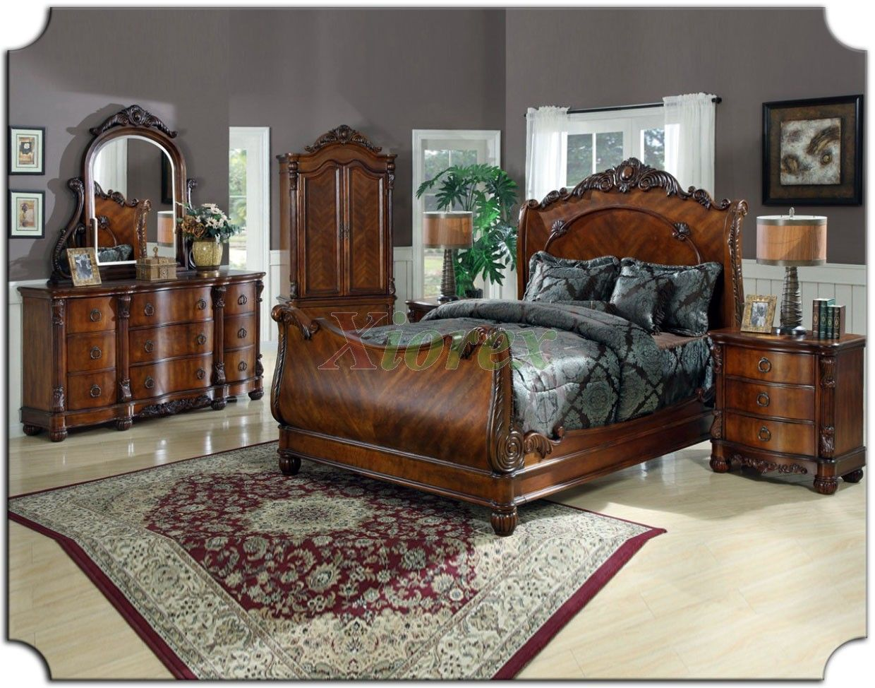 King size sleigh bedroom sets sleigh bedroom - King size sleigh bed bedroom set ...