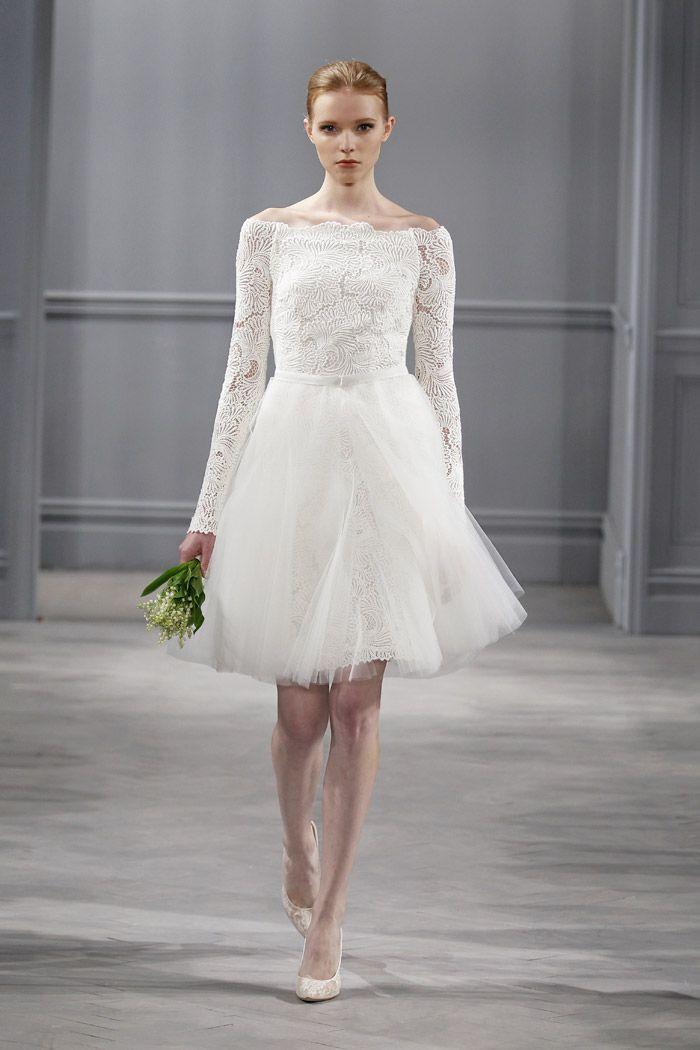 Monique Lhuillier Spring 2014 Collection   Civil wedding dresses ...