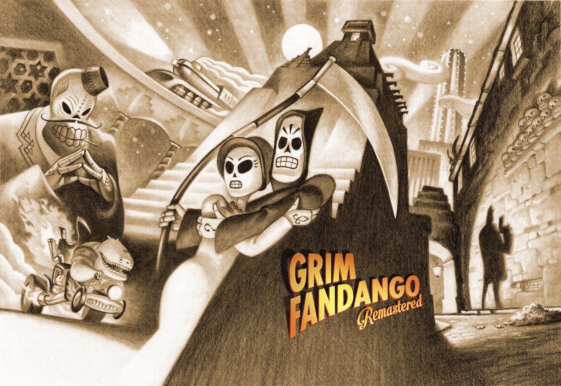 Grim Fandango Remastered Free Download PC Game Retro