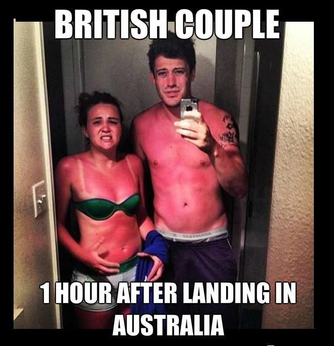 Pin By Evie On Funny Funny Sunburn Australia Funny Problem Meme