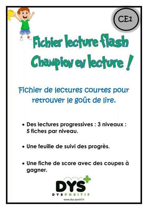Lecture flash CE1 | ULIS | Reading games, School et ...