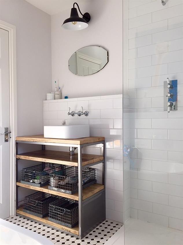 Industrial Style Bathroom Basin Cabinet Www Reclaimedbespoke Co