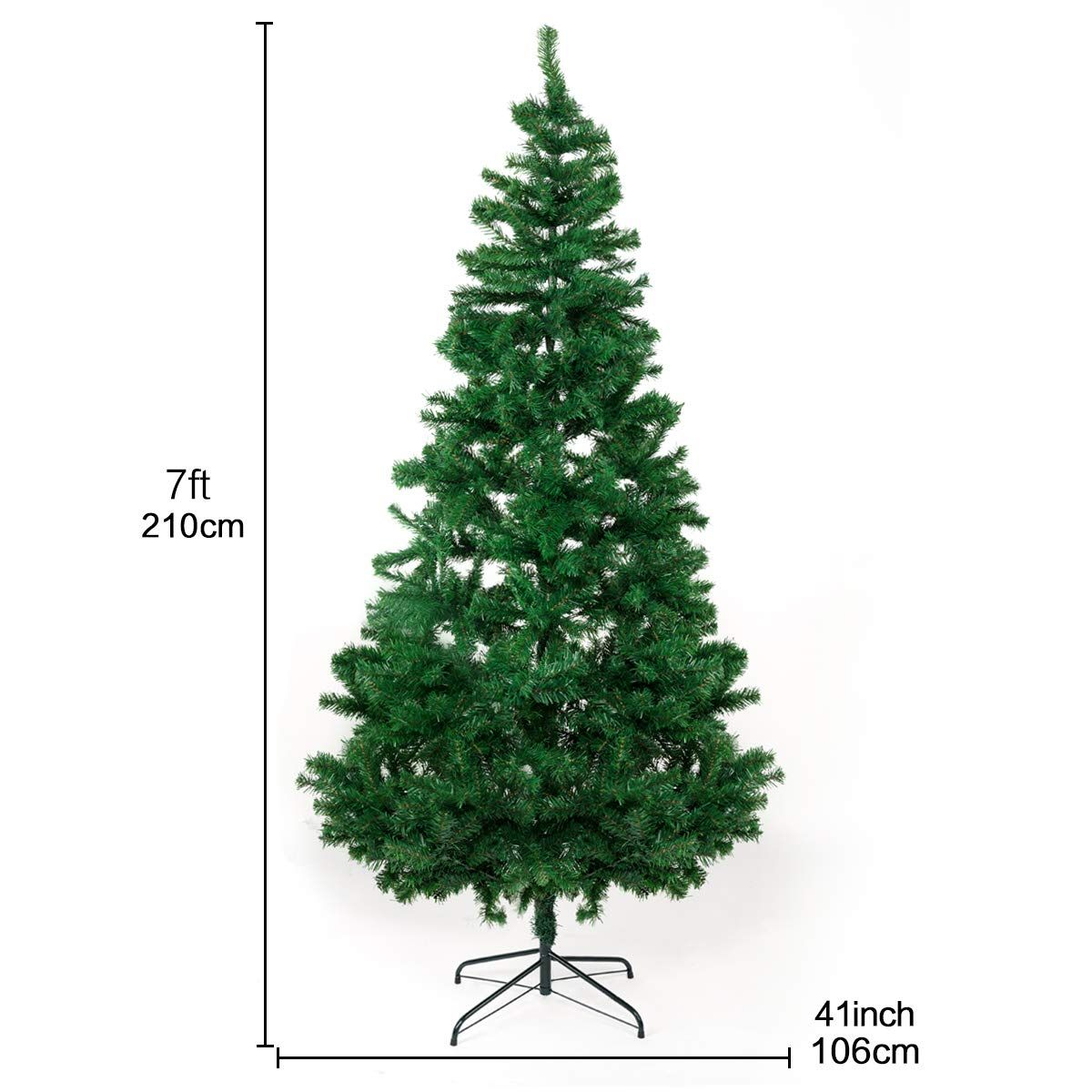 Bocca 7 Ft Christmas Artificial Pine Tree Full Branches With Strong Iron Stand Indoor And Outdoor Green Check This Awesome Product By Tree Christmas Indoor