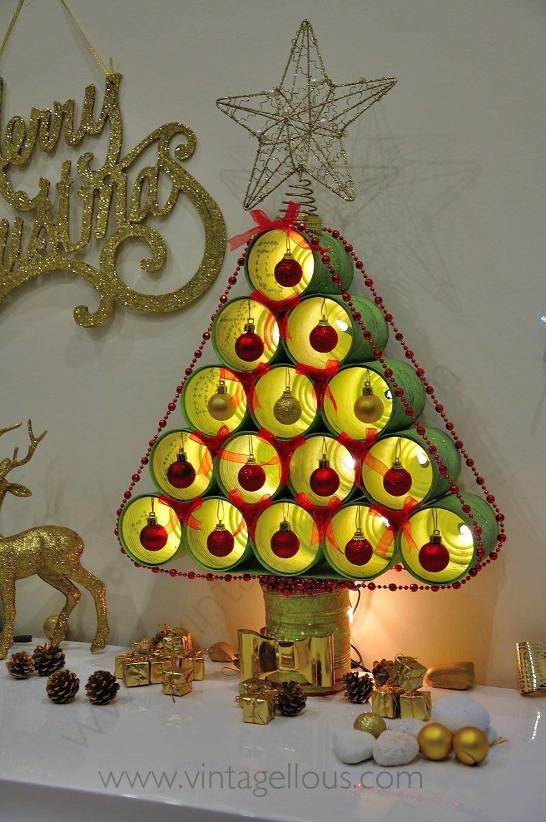 Latas recicladas20 rboles de navidad navidad - Arboles de navidad manualidades navidenas ...