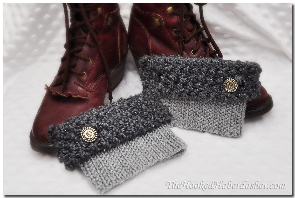 Free Pattern City Girl Boot Cuffs TheHookedHaberdasher | Crochet ...