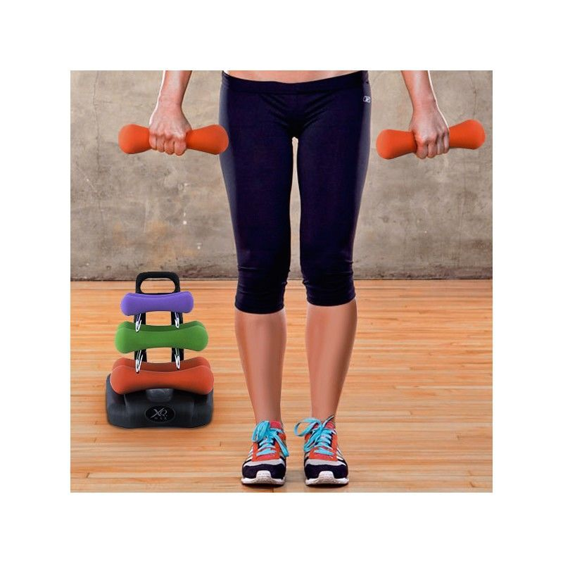 Fitness dumbbell set with holder only 3250