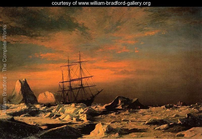 William Bradford (April 30, 1823 - April 25, 1892) was an American romanticist painter, photographer and explorer, originally from Massachusetts. He is known for his paintings of ships and Arctic seascapes.