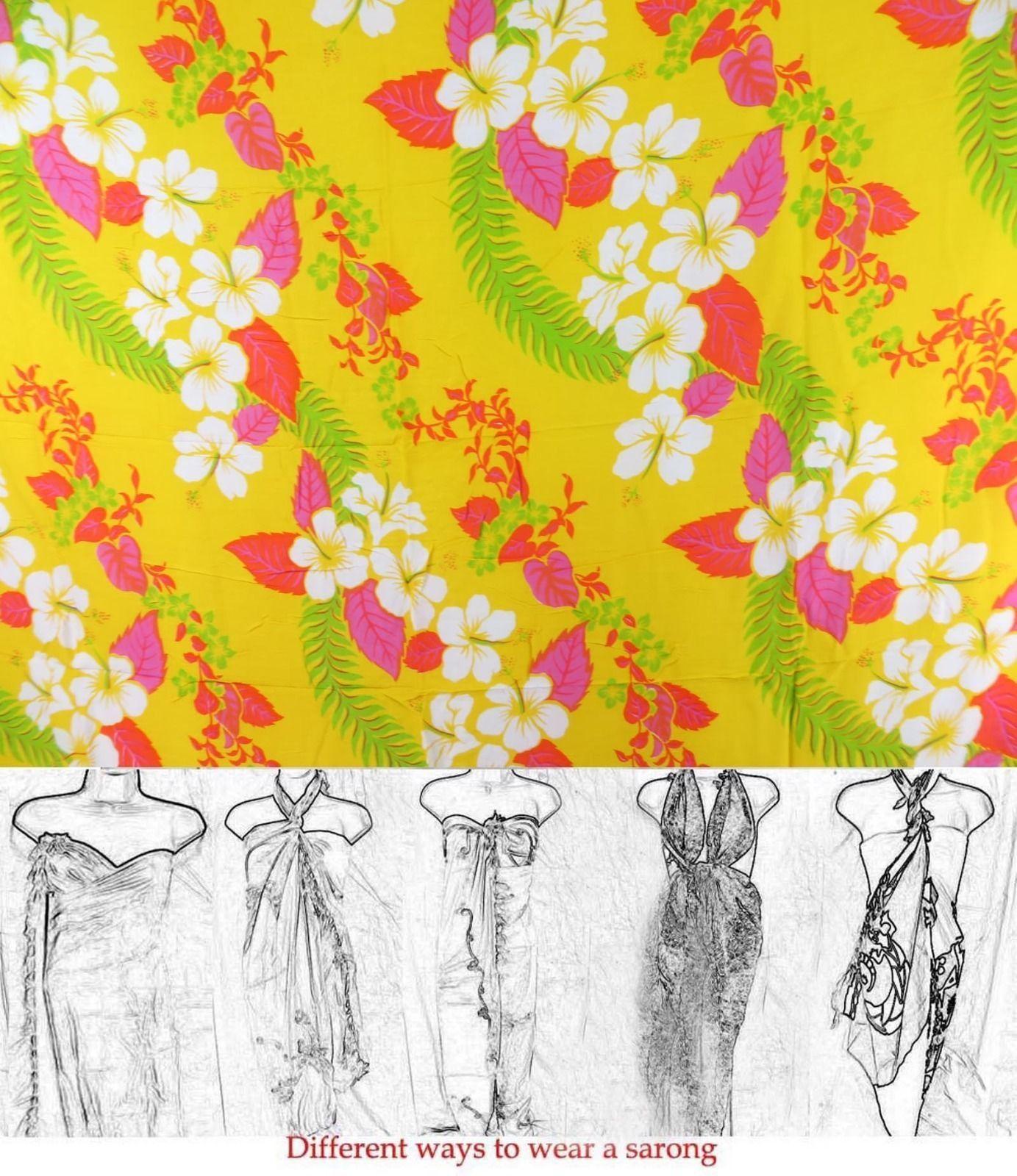 Wholesale dresses hawaiian flower lei yellow sarong flower lei wholesale dresses hawaiian flower lei yellow sarong izmirmasajfo