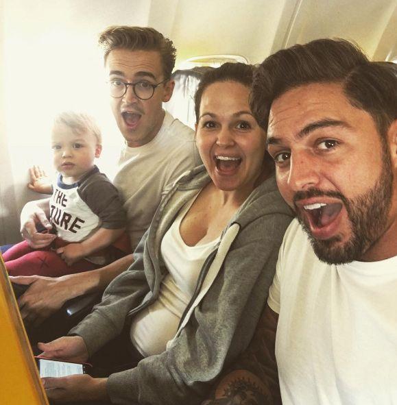 Giovanna Fletcher And Family Head To Wedding In Sardinia