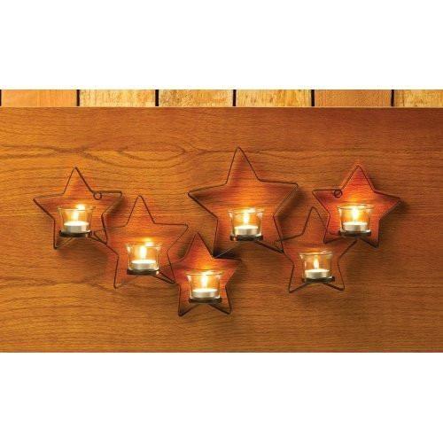 Beautiful Iron Cutout Star Wall Sconce-Candles & Candleholders - Oxemize.com
