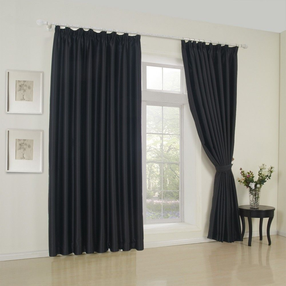 Elegant Homeinterior Design: Classic Solid Black Blackout Curtain #curtains #homedecor