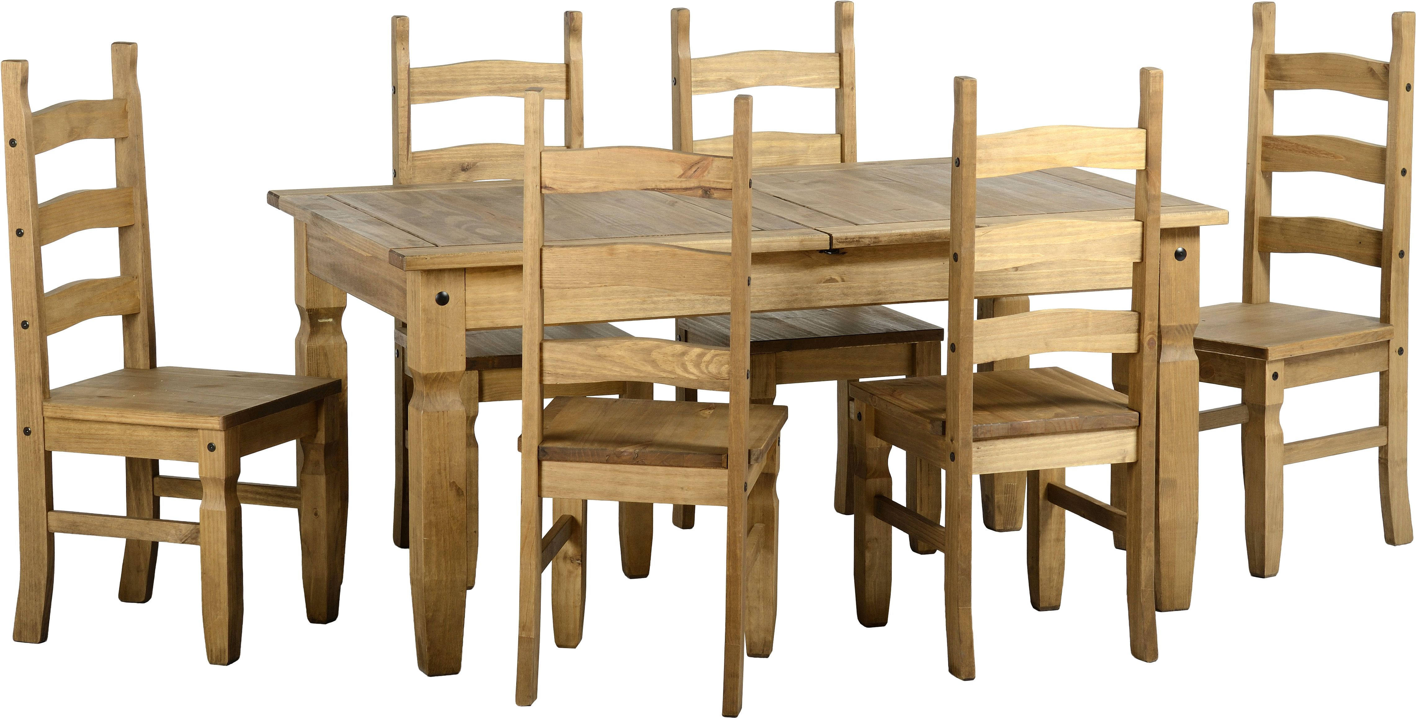 This Acapulco Extending Dining Set In Distressed Waxed Pine Is Now  Available From Wrexham Warehouse Furniture