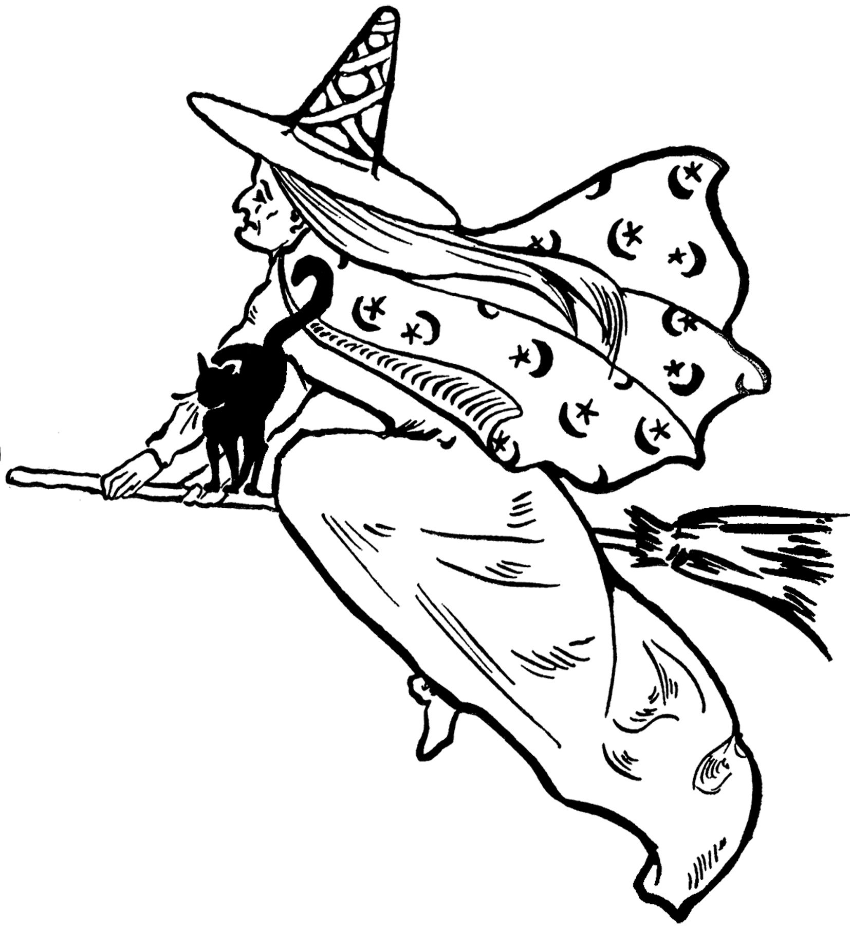 8 Halloween Witches Clipart