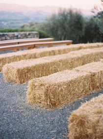 hay bale seating ©2007-2012 Style Me Pretty, all rights reserved