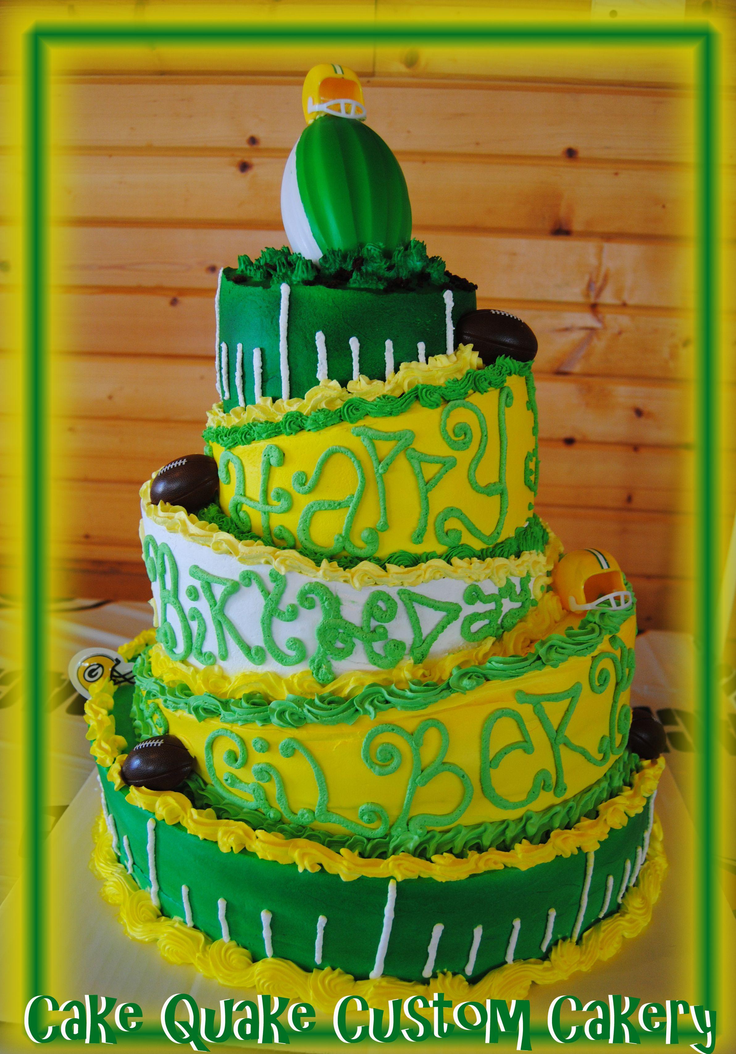 WooHoo! Gilbert Brown\'s birthday cake! This 5 tier Topsy-Turvy cake ...