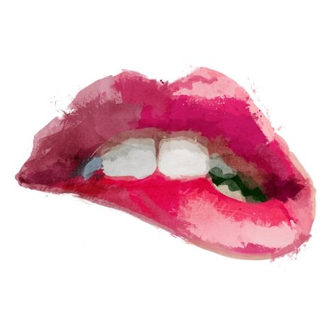 Lips Original Illustration Art Print From Garillu Levre Dessin