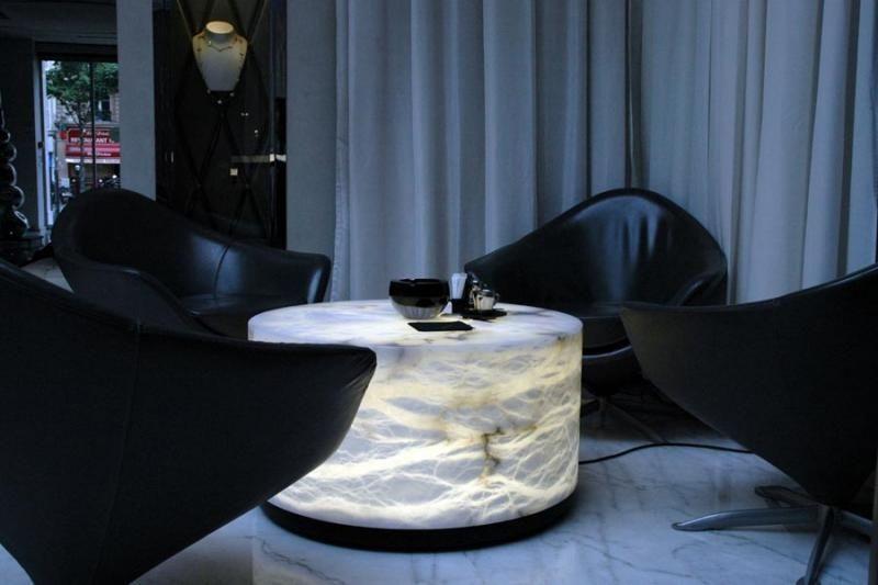 contemporary luminous coffee table 60/80 Atelier-alain-ellouz