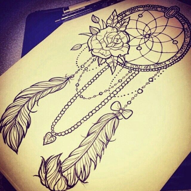 Dream Catcher Tattoo On Thigh Cool Zombiechy  Photo  Plumas  Pinterest  Tattoo Tatting And Piercings Design Ideas