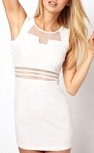 Women's Sexy Hollow Low-cut Sleeveless Packet Hip Mini Dress