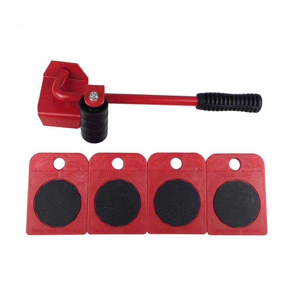5pcs//set Easy Furniture Lifter Mover Tool Set Slider Heavy Duty Furniture Roller