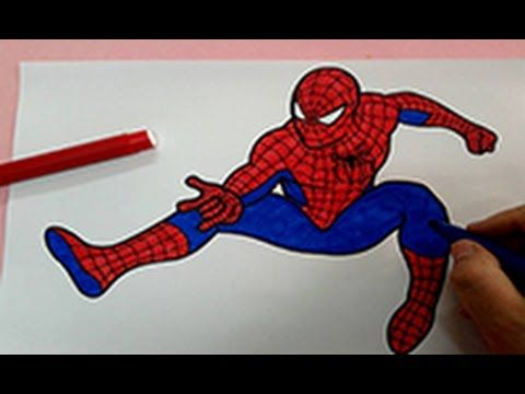 Coloring Pages For Spiderman : Spiderman coloring pages how to color spiderman superhero