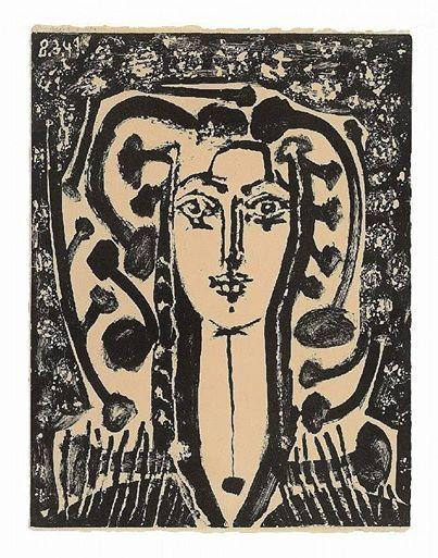 Pablo Picasso - Buste Modern Style, 1949 | Picasso, Pablo picasso, Francoise gilot