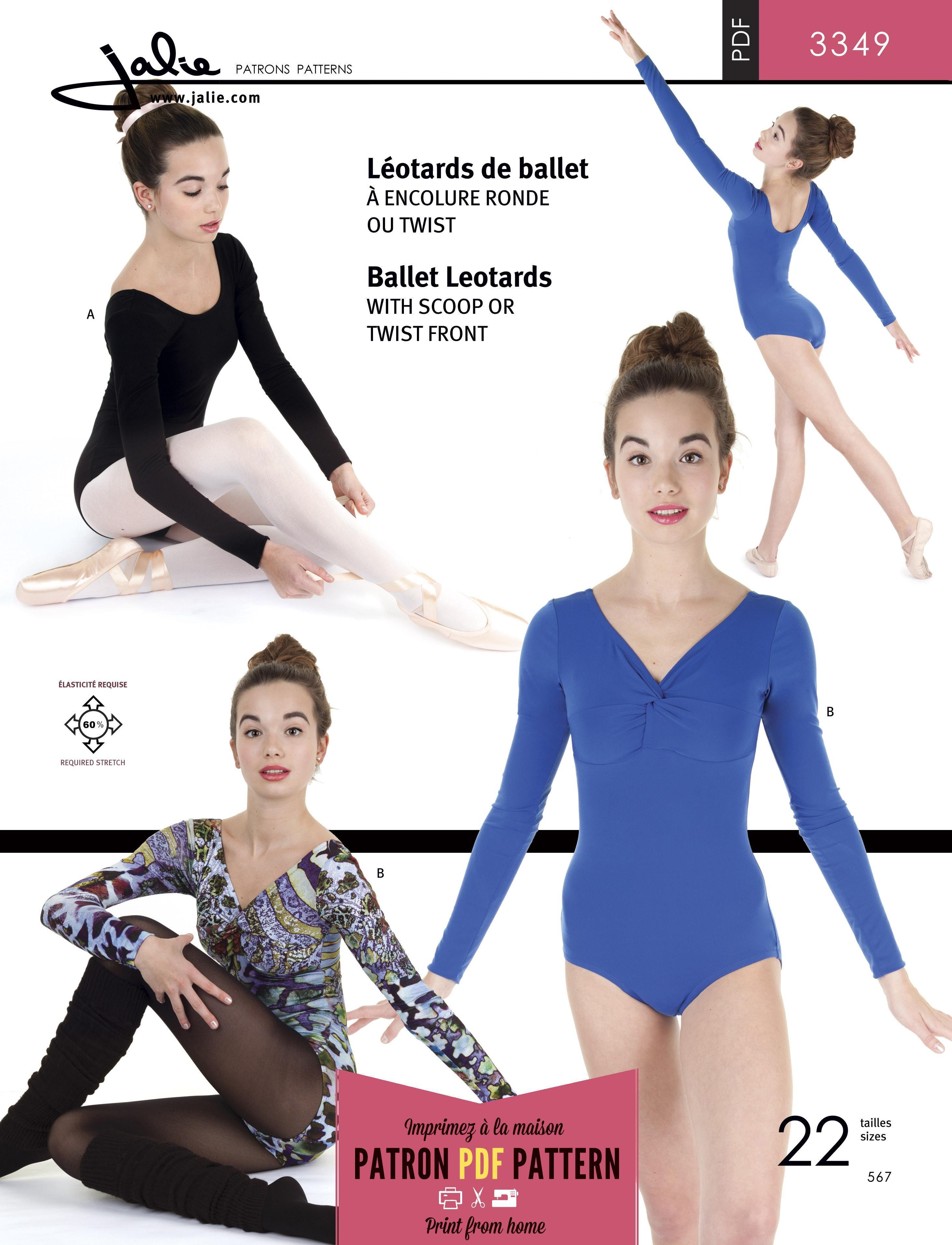 Jalie 3349 - Ballet Leotards PDF Pattern | Schnittmuster | Pinterest ...