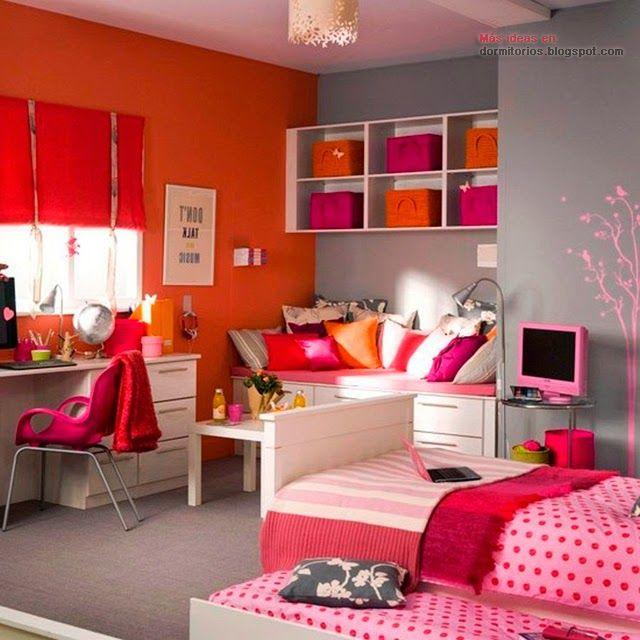 Colores para habitaciones juveniles bedrooms pinterest for Habitaciones juveniles nina