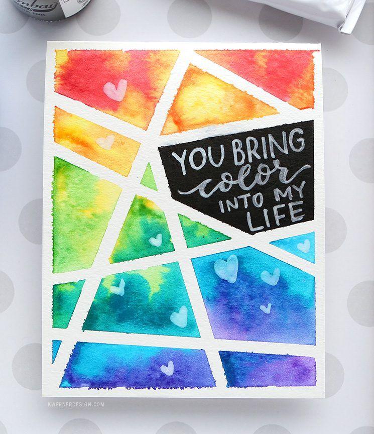 Easy Diy Taped Watercolor Minimal Supplies Needed Diy Tape Birthday Cards Diy Easy Diy
