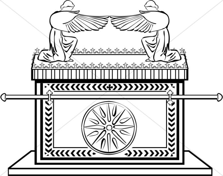 Ark Of The Covenant In Black And White Sunday School Coloring