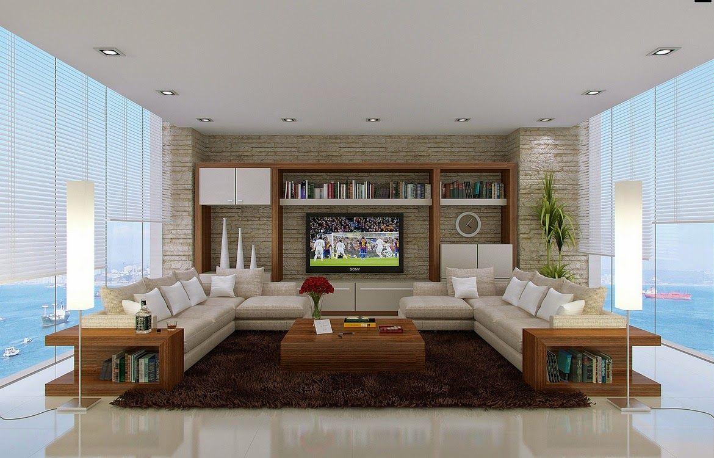 Dise o de interiores arquitectura tendencias para salas for Diseno de interiores sala de estar comedor