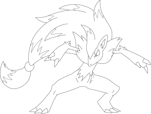 Click To See Printable Version Of Josh The Zoroark Coloring Page Pokemon Coloring Coloring Pages Pokemon Coloring Pages