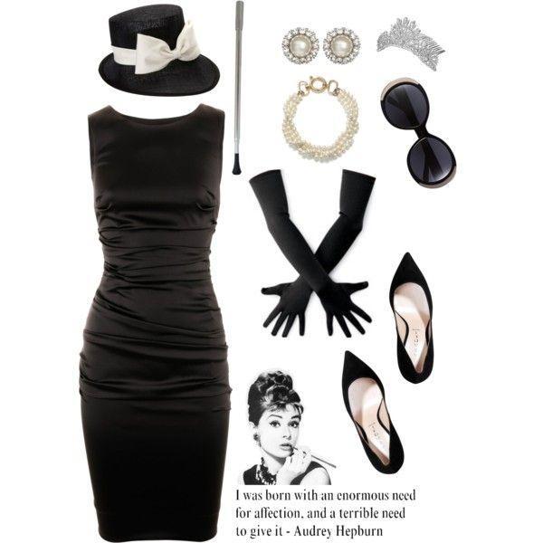 Ý tưởng hóa trang Halloween thành quý cô Audrey Hepburn