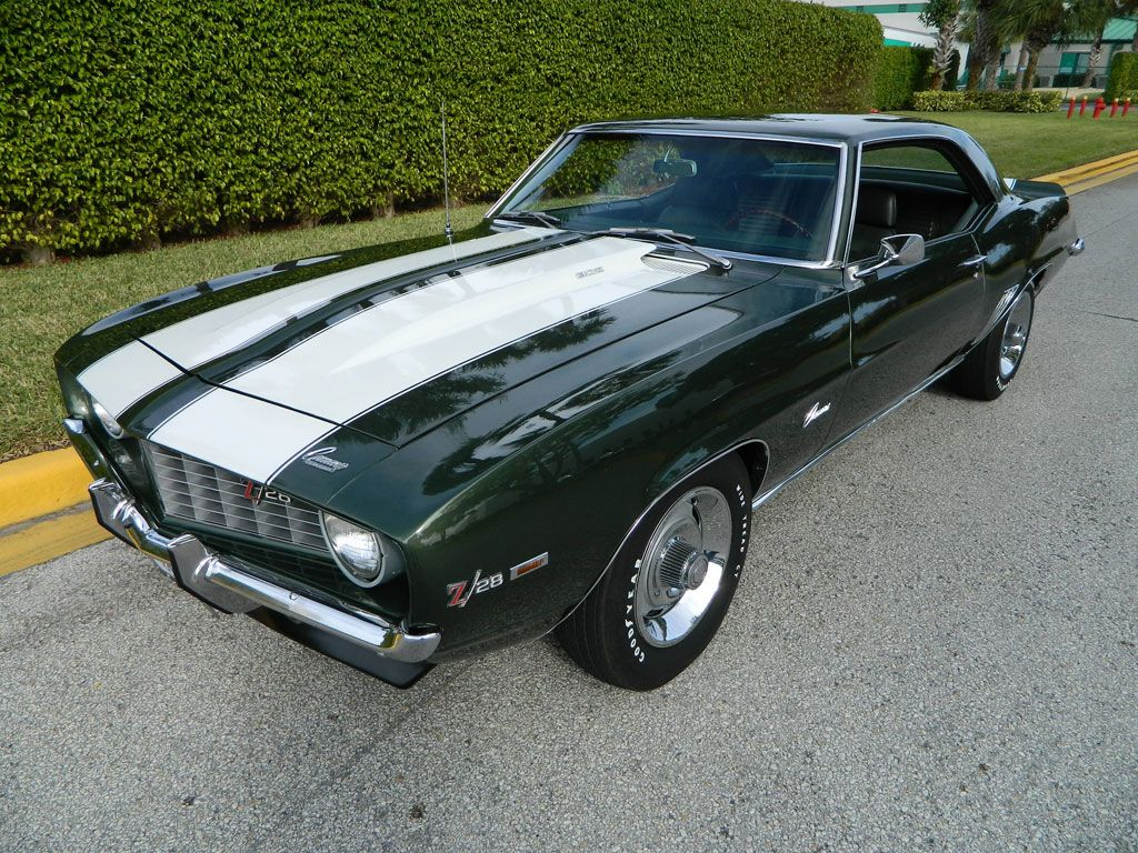 1969 Chevy Camaro Z28 Fathom Green Dz302 X33 D80 Muscle Cars