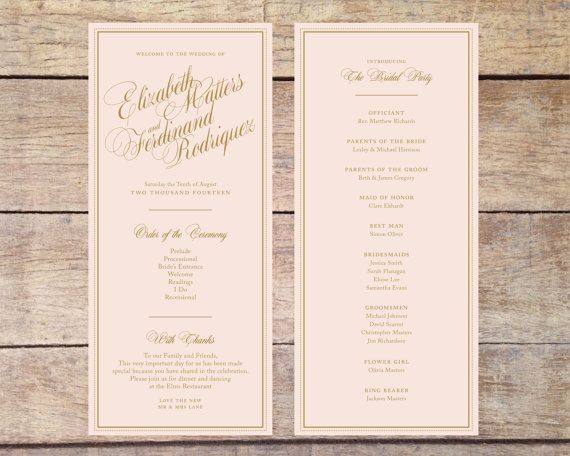 28 RESERVED Blush Pink Gold Wedding By PaperRouteCollective