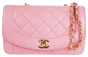 2a973bc0f32f Chanel Lamb Skin 3way Classic Flap Rare Vintage Pink Cross Body Bag $1,850