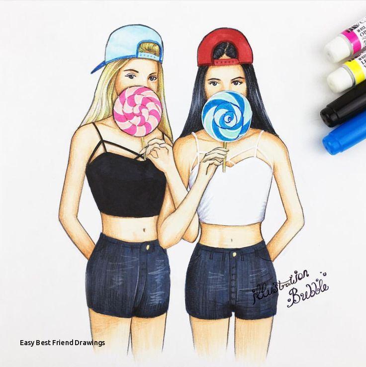 Dibujos de amigas a distancia