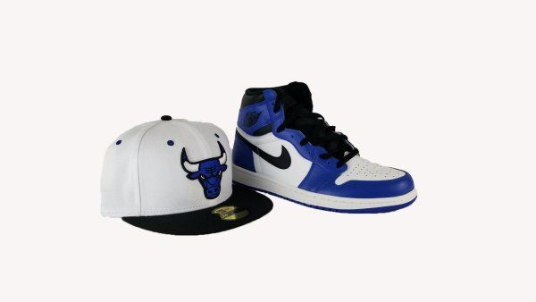 572705662e6966 Matching New Era Chicago Bulls 9Fifty Fitted Hat For Air Jordan 1 OG Game  Royal