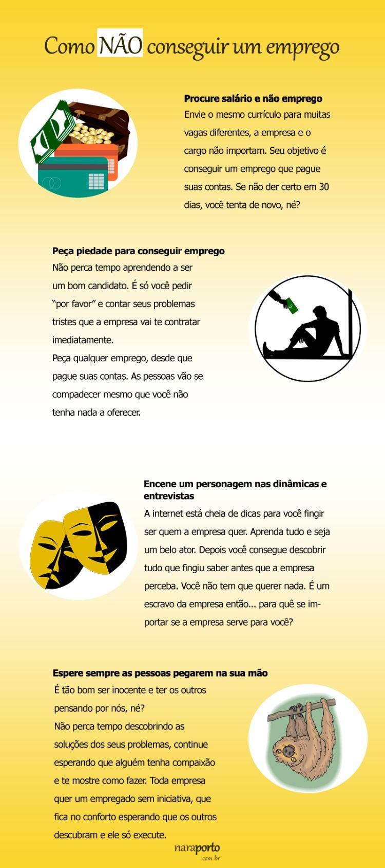 Infografico Como Nao Conseguir Um Emprego Entrevistas De