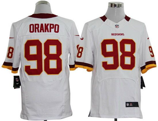 New Nike Redskins #98 Brian Orakpo White Mens NFL Elite Jersey And  hot sale