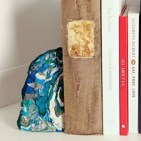 craft faux agate bookends, crafts, decoupage, diy, painting