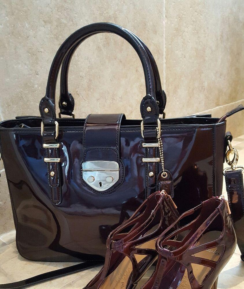 Clarks Burgundy Handbag Large In Clothes Shoes Accessories Women S Handbags Ebay