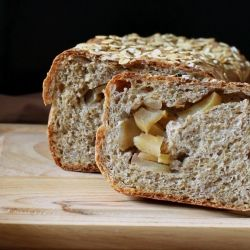 Apple Pie swirl Yeast bread loaf. whole grain