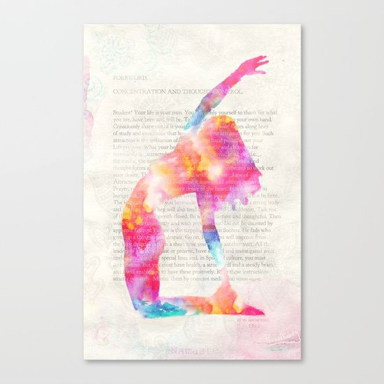 Yoga book foreword canvas print home office working space yoga book foreword canvas print gumiabroncs Gallery