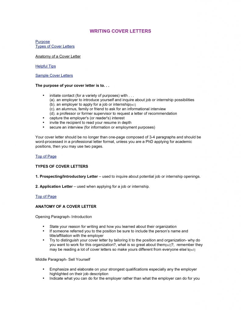Types Of Cover Letter Template | Cover letter sample | Writing a ...
