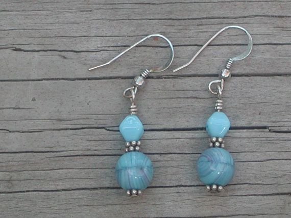 Turquoise Czech glass and Bali sterling by PatriciaBlessDesigns, $15.00