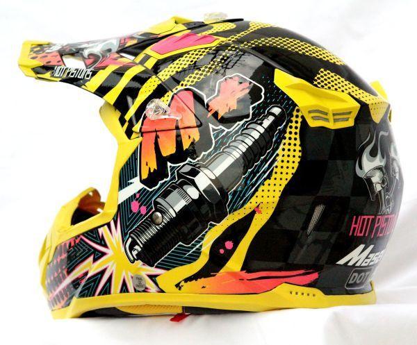 Masei 315 M Plus Motocross Atv Dot Dirtbike Helmet Yellow L Xl Helmet Motocross Helmets Dirt Bikes