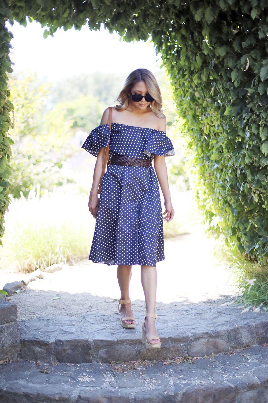 e30aa441828 Beyond Basic Blog Donna Morgan Polka Dot Midi Dress