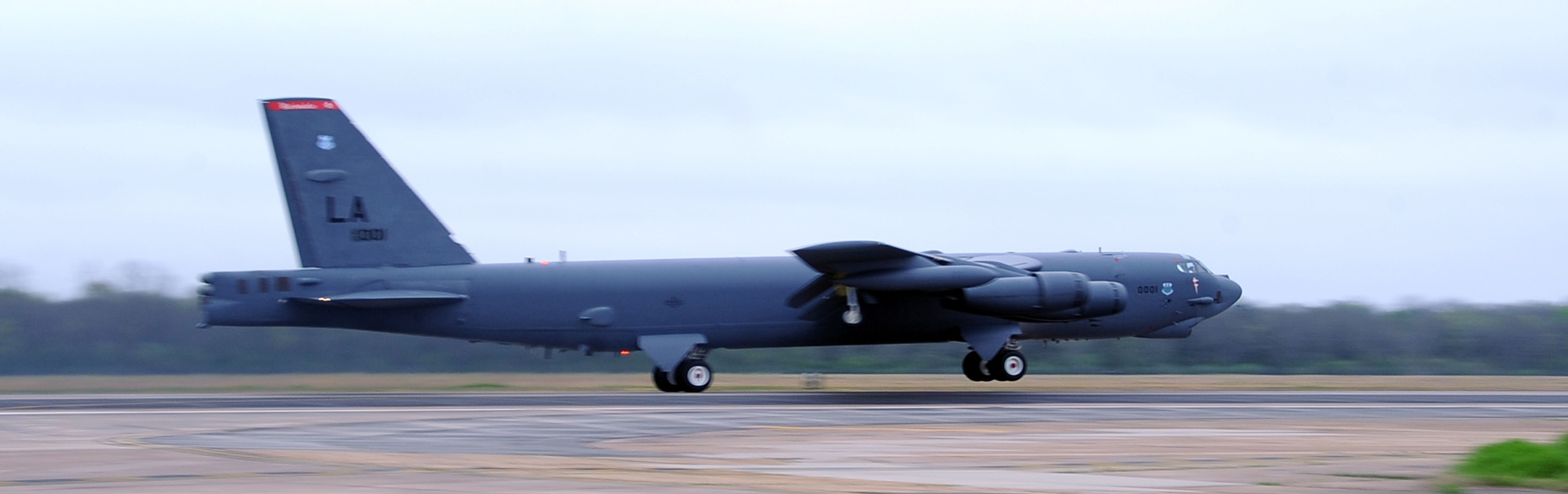 A B52H Stratofortress assigned to 96th Bomb Squadron