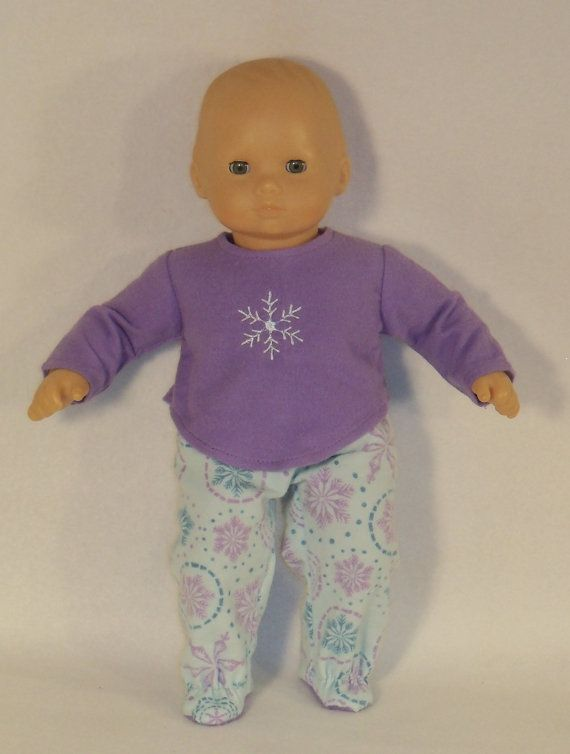908feb658 Bitty Baby Doll Snowflake Pajamas with Feet